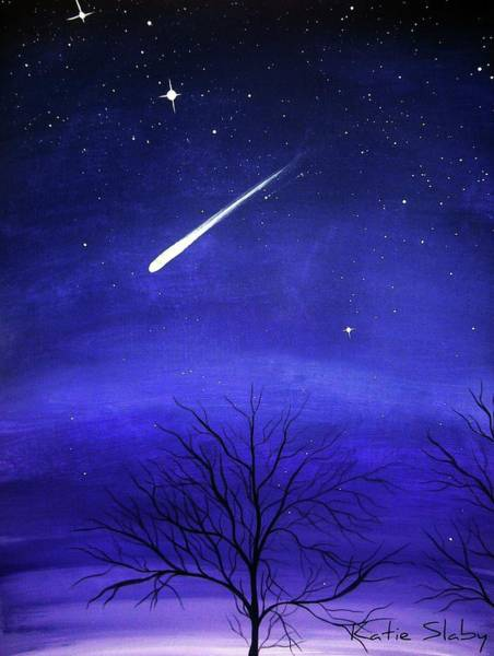 Shooting Star Wall Art - Painting - When Stars Fall by Katie Slaby