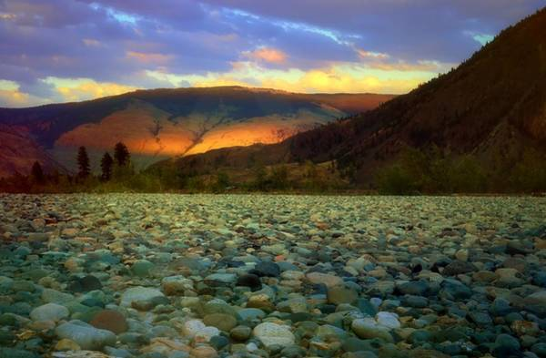 Wall Art - Photograph - When The Evening Paints The Mountains by Tara Turner