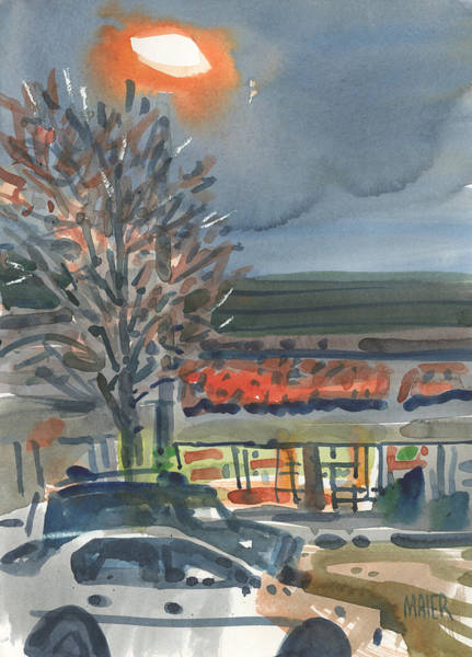 Mall Painting - When The Lights Come On by Donald Maier