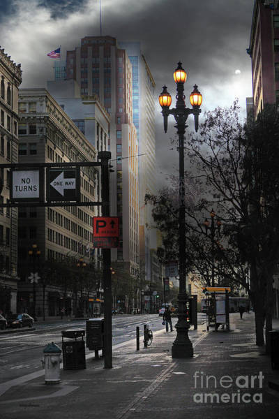 Photograph - When The Lights Go Down In San Francisco 5d20609 by Wingsdomain Art and Photography