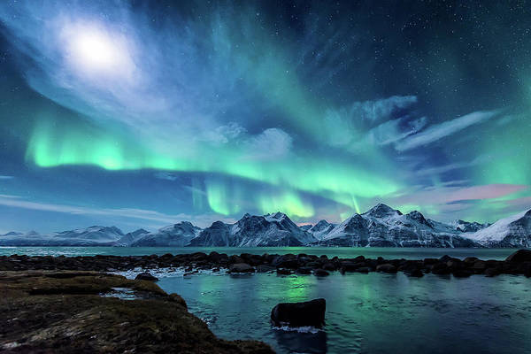 Light Photograph - When The Moon Shines by Tor-Ivar Naess