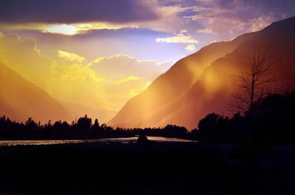Wall Art - Photograph - When The Sun Lights Up The Mountains by Tara Turner
