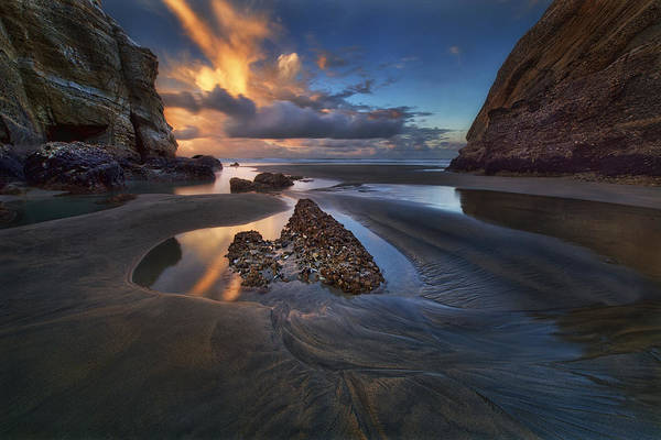New Zealand Photograph - When The Tide Receded by Yan Zhang