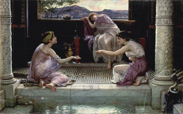 Wall Art - Painting - When The World Was Young1891 by Edward Poynter