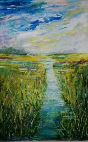 Nz.impressionist Painting - When Will My Prince Arrive - Frog Pool by Carol Skinner