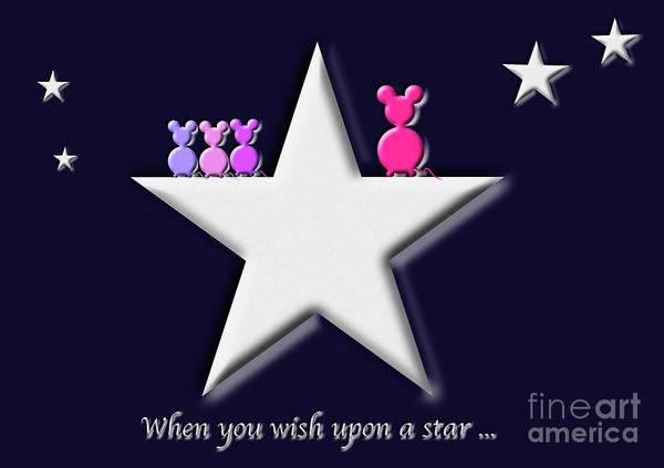 Digital Art - When You Wish Upon A Star by Barefoot Bodeez Art