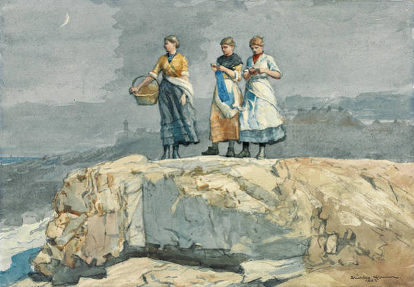 Wall Art - Drawing - Where Are The Boats? by Winslow Homer