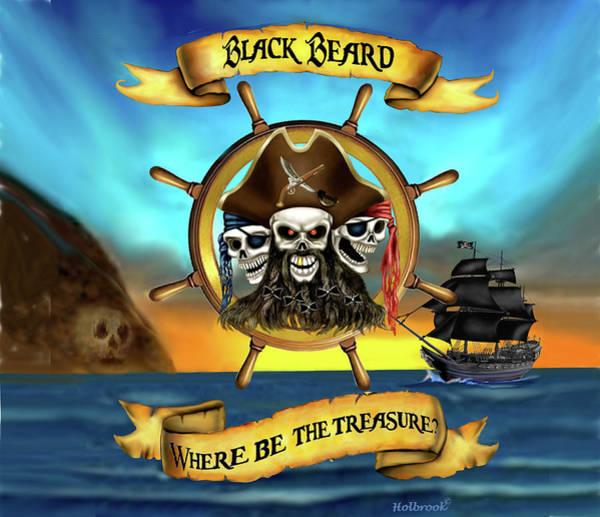 Pirates Of The Caribbean Digital Art - Where Be The Treasure? by Glenn Holbrook