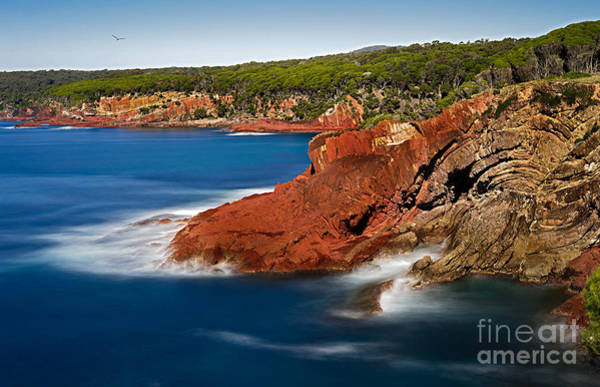 Photograph - Where Blue Water Meets Red Rock by Russell Brown