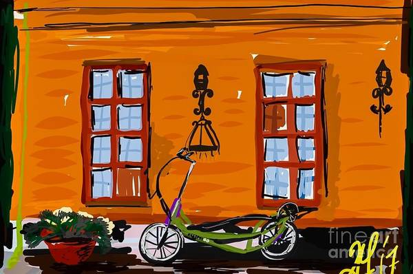Painting - Oslo, Norway Elliptigo by Francois Lamothe