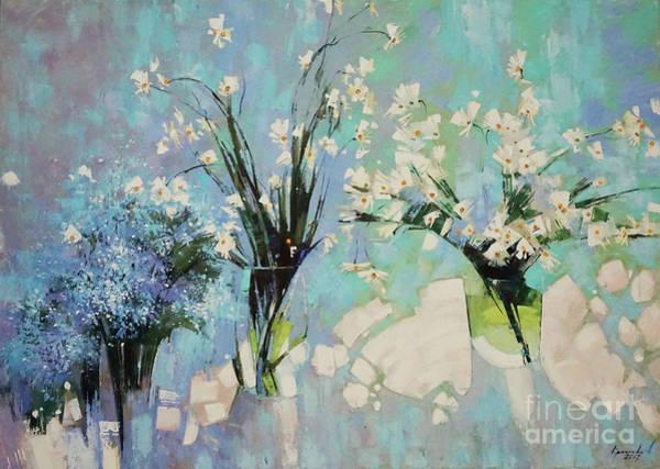 Blue Cornflower Painting - Where Is Clean, Light by Anastasija Kraineva