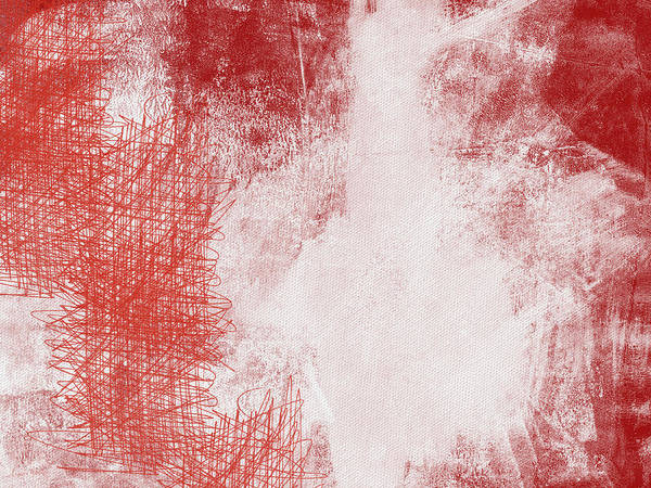 Red And White Painting - Where It Takes You- Abstract Art By Linda Woods by Linda Woods