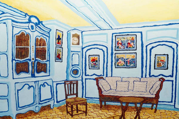 Grandfather Clock Painting - Where Claude Sat by Lorin Zerah