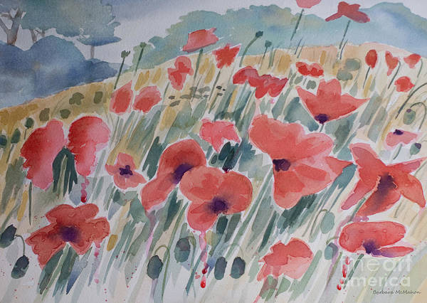 Legion Of Honor Painting - Where Poppies Grow by Barbara McMahon