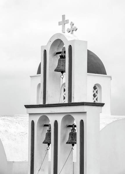 Photograph - For Whom The Bell Tolls - Santorini by Usha Peddamatham