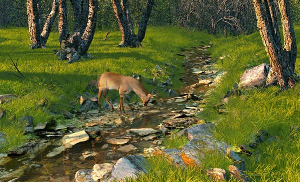 Digital Art - Where The Buck Stops by Dieter Carlton
