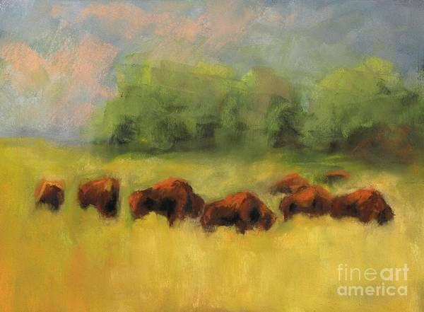 Wall Art - Painting - Where The Buffalo Roam by Frances Marino