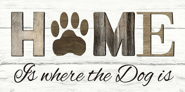 Wall Art - Mixed Media - Where The Dog Is by Lori Deiter