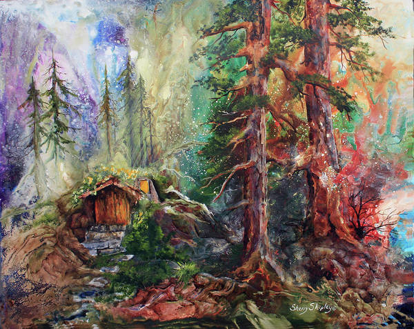 Painting - Where The Fairies Play by Sherry Shipley