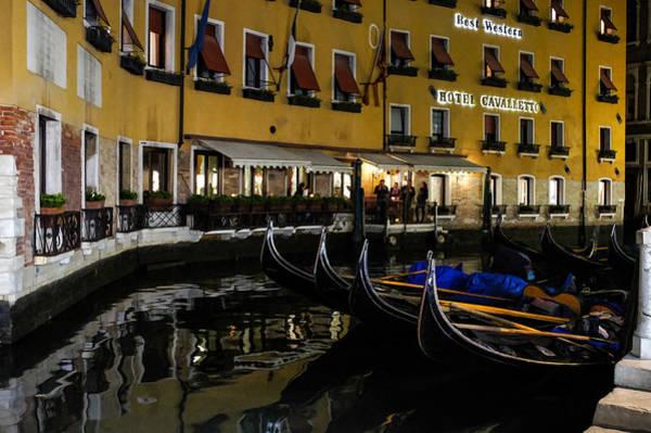 Digital Art - Where The Gondolas Go To Sleep - Bacino Orseolo Venice Italy by Georgia Mizuleva
