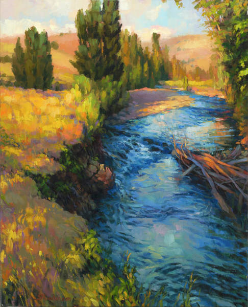Painting - Where The River Bends by Steve Henderson