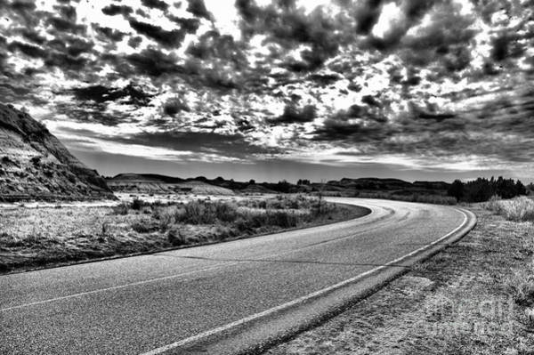 Wall Art - Photograph - Where The Road Turns Black And White by Jeff Swan