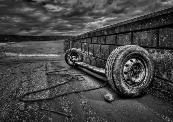 Tires Photograph - Where The Roads End... by Evelina Kremsdorf