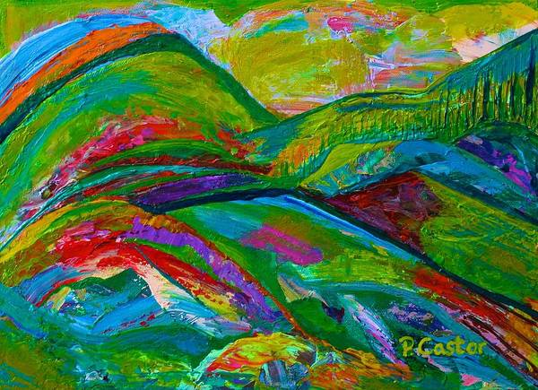 Painting - Where The Verdant Pastures Grow by Polly Castor