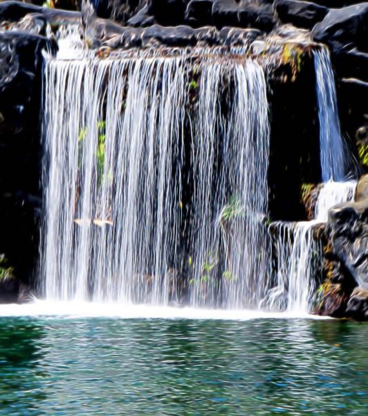 Mixed Media - Where The Water Falls by Pamela Walton