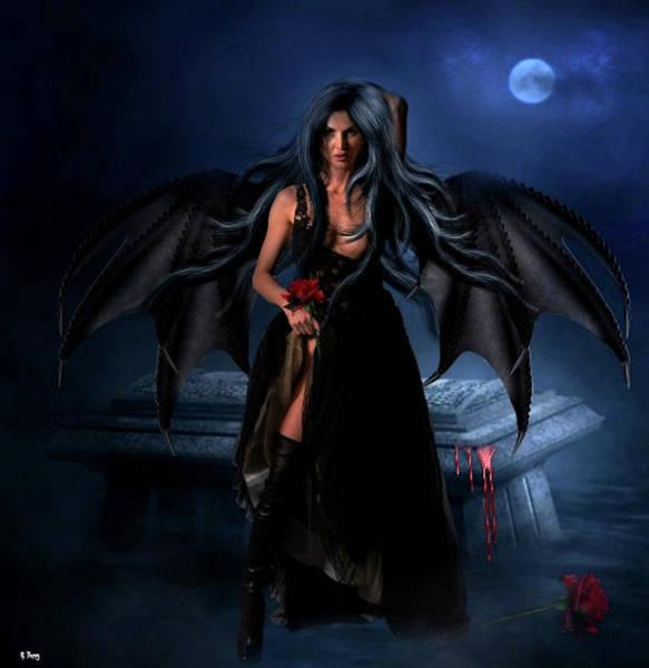 Desire Mixed Media - Where Vampires Unite by G Berry