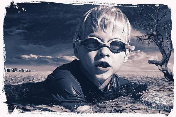 Digital Art - Where Will He Swim Tomorrow by Chris Armytage
