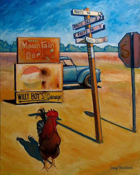 Wall Art - Painting - Whether To Cross by Doug Strickland