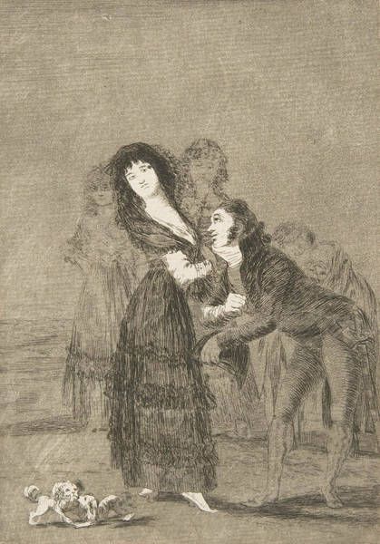 Relief - Which Of Them Is The More Overcome by Francisco Goya
