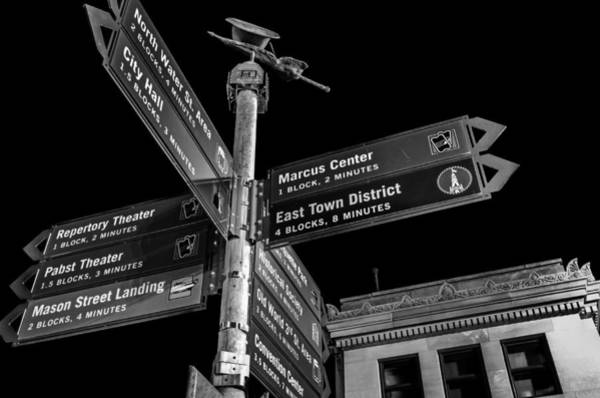 Photograph - Which Way In Milwaukee? by Steven Santamour