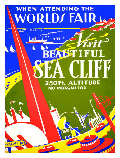 Fair Painting - While In Worlds Fair, Visit Sea Cliff by Long Shot