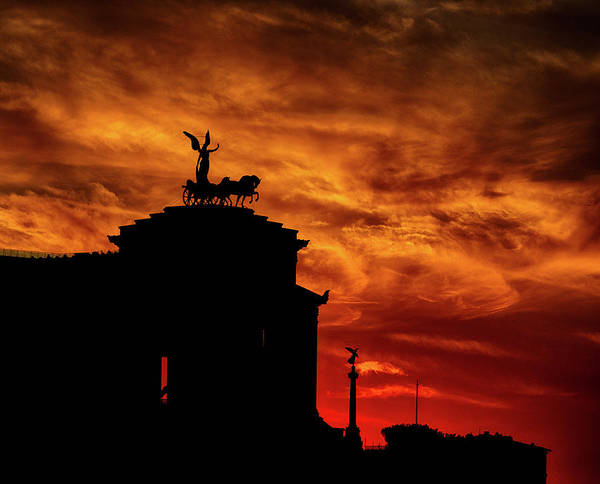 While Rome Burns Art Print