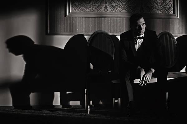 Tudor Photograph - While Waiting His Bride by Marius Tudor