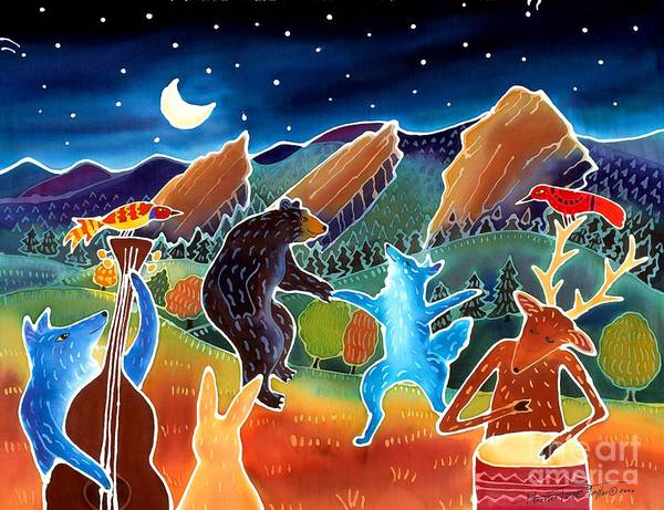 Coyote Painting - While We Were Sleeping by Harriet Peck Taylor