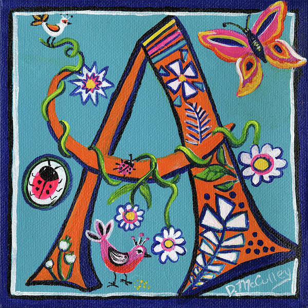 D.w Painting - Whimsical A by Debbie McCulley