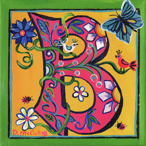 D.w Painting - Whimsical B by Debbie McCulley