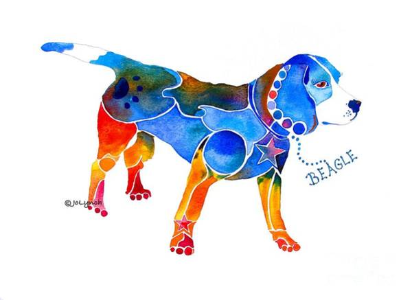 Painting - Whimsical Beagle by Jo Lynch