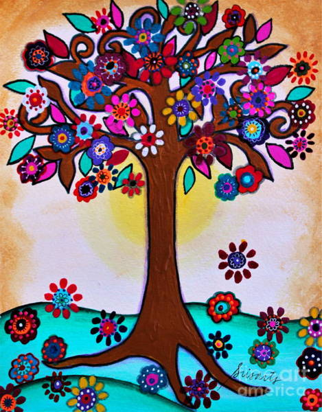 Painting - Whimsical Blooming Tree by Pristine Cartera Turkus