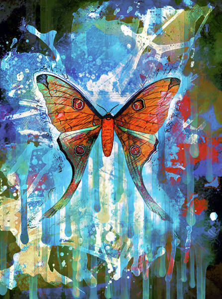 Mixed Media - Whimsical Butterfly Collage by Isabella Howard