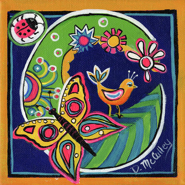 D.w Painting - Whimsical C by Debbie McCulley