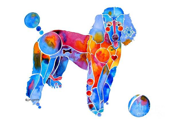 Painting - Whimsical French Poodle by Jo Lynch