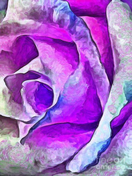 Rose Bud Digital Art - Whimsical Garden by Krissy Katsimbras