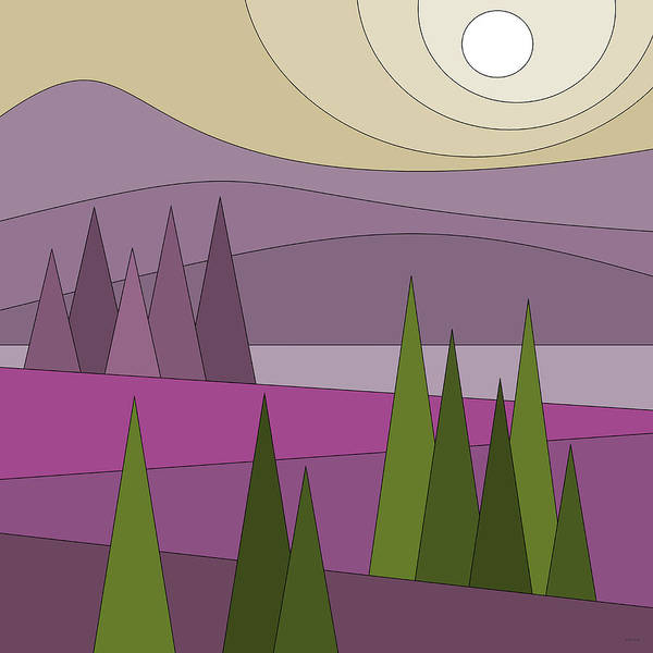 Semis Digital Art - Whimsical Landscape by Val Arie