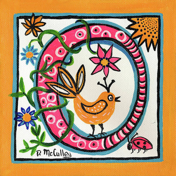 0 Painting - Whimsical O by Debbie McCulley