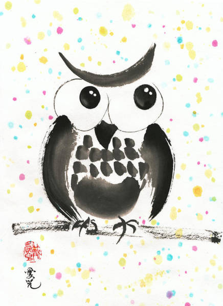 Painting - Whimsical Owl by Oiyee At Oystudio