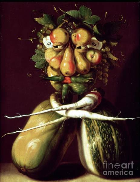 Crt Painting - Whimsical Portrait by Arcimboldo